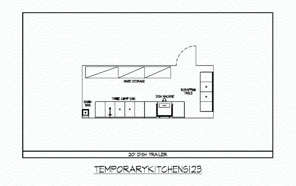 dishwashing temporary kitchens 123 rentals plan drawing